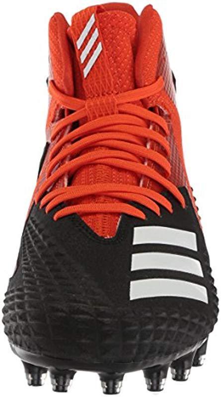 11.5 M US core Black//White//Collegiate Orange adidas Mens Freak X Carbon Mid Football Shoe