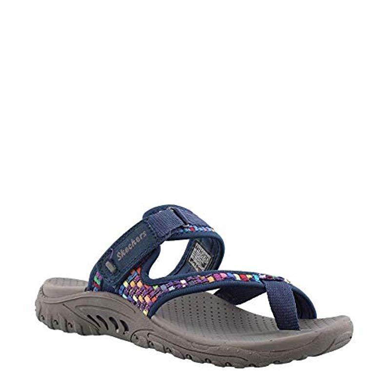 b7190f65a2aa Lyst - Skechers Reggae-Mad Swag-toe Thong Woven Sandal in Blue