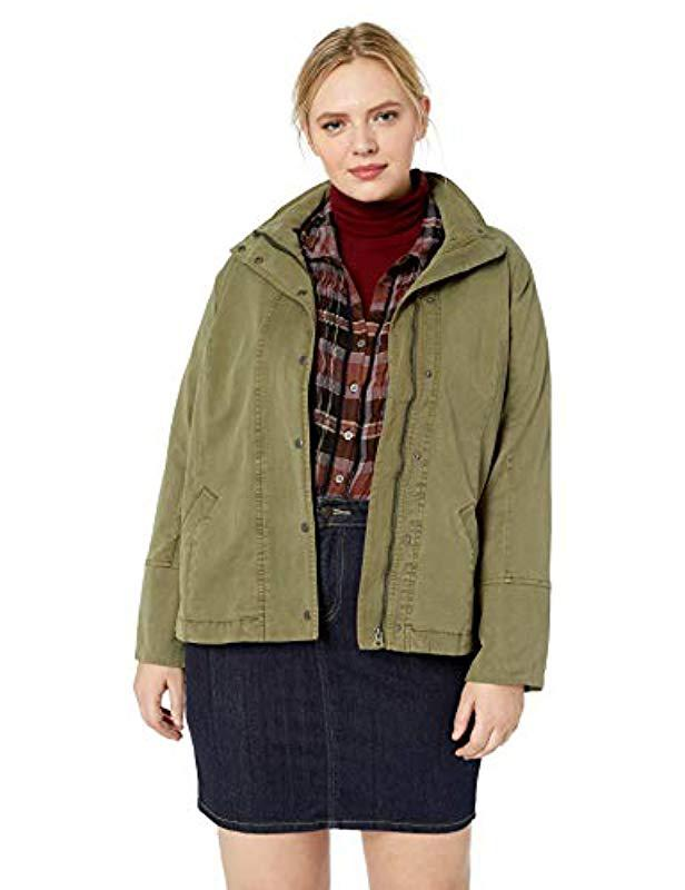 0ba30cd95f6 Lyst - Lucky Brand Plus Size Vicky Lightweight Utility Jacket in Green