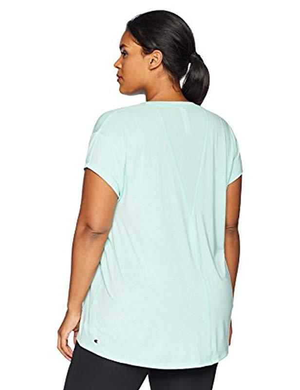 a3bb7f9cd1b Lyst - Champion Plus-size Gym Issue Tee in Blue - Save 36.666666666666664%