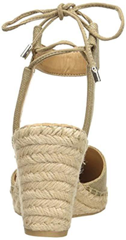 4120b49d779 Franco Sarto Metallic Mariska Espadrille Wedge Sandal