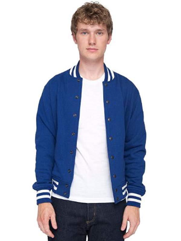 American Apparel Men Heavy Terry Club Jacket