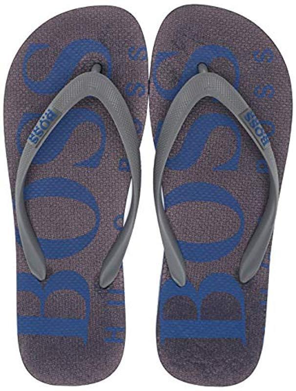 41042941a8bb6a Lyst - BOSS Wave Thong Rubber Sandal Flip-flop in Blue for Men