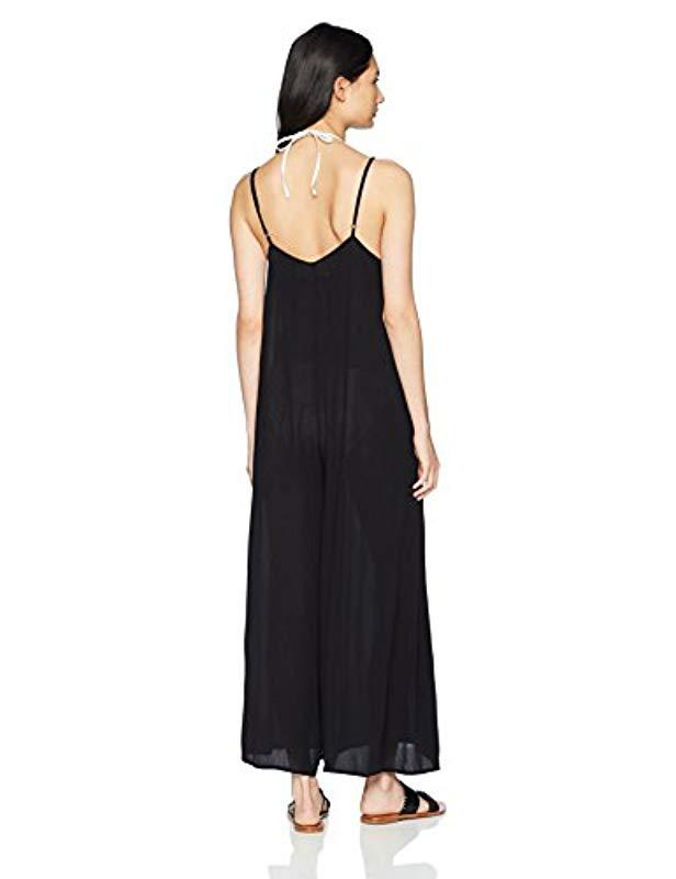 Lyst Mara Hoffman Carly Jumpsuit Cover Up In Black Save 60