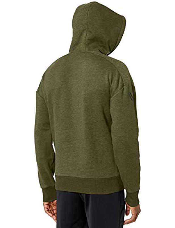 d924e47833 Lyst - Peak Velocity Middleweight Fleece Full-zip Loose-fit Hoodie in Green  for Men