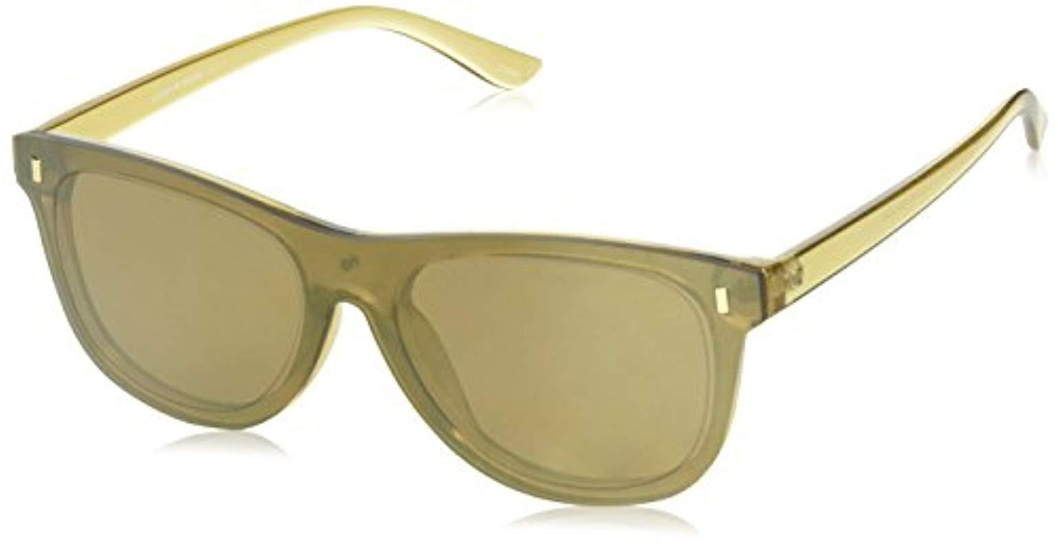 740467a28e7 Lyst - Lucky Brand Lucky Robrbro57 Cateye Sunglasses Brown 57 Mm in ...