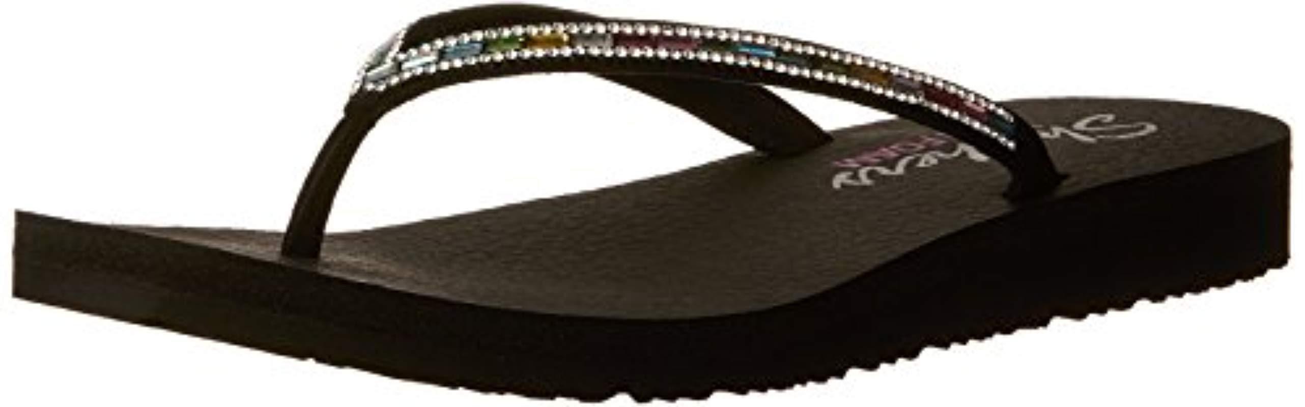03f53d063724 Lyst - Skechers Meditation-desert Princess Flip-flop in Black - Save ...