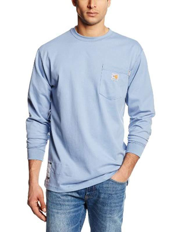 f300ec6fc4b7 Lyst - Carhartt Flame Resistant Force Cotton Long Sleeve T-shirt in ...