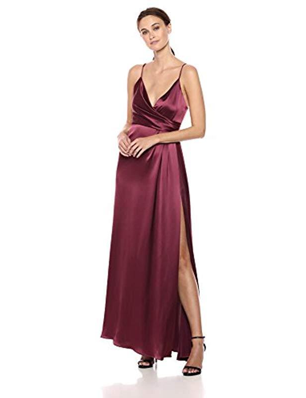 68ad38b0fbb7 Lyst - JILL Jill Stuart Satin Wrap Slip Dress in Purple