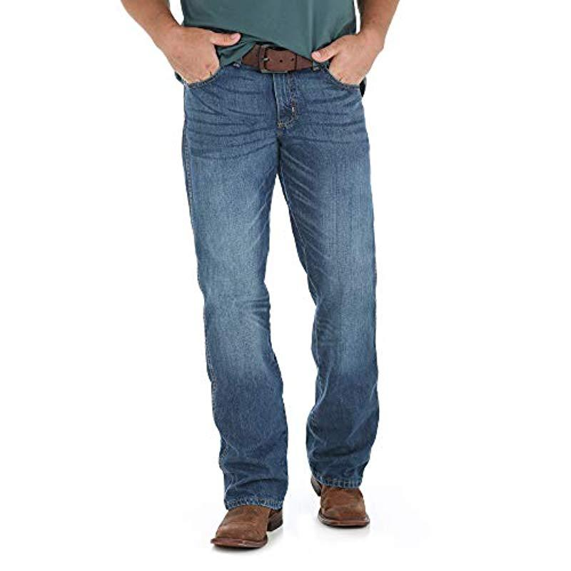 4b264cb309c Wrangler. Men's Blue Big And Tall Retro Big & Tall Relaxed-fit Bootcut  Jackson Hole Jean