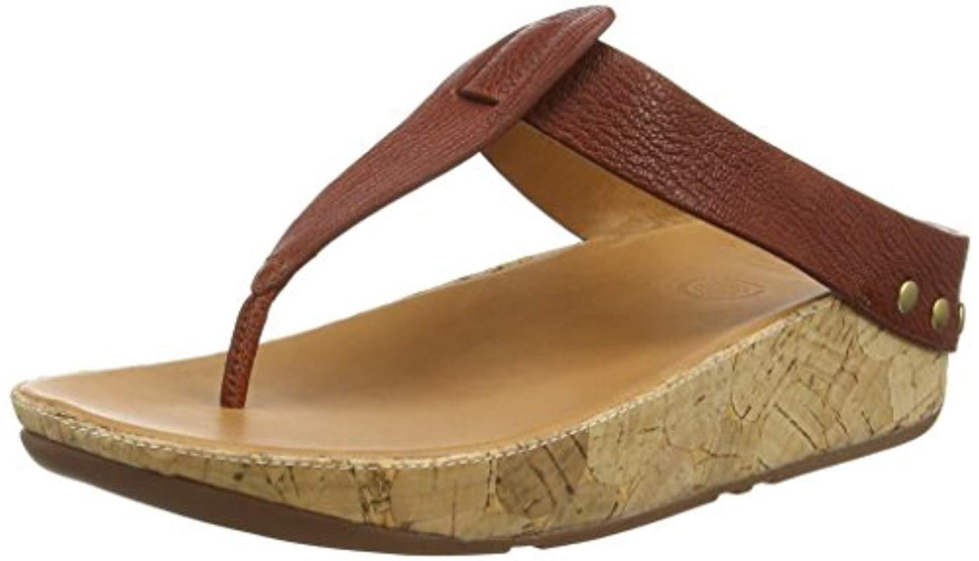 5d048575c6d2 Lyst - Fitflop Ibiza Cork Flip Flop in Brown - Save 38%