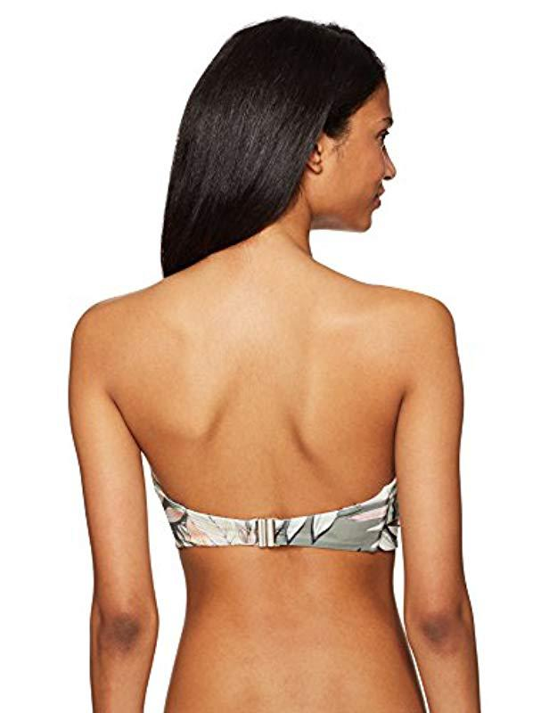 f2fd78aa72 Lyst - MINKPINK Shady Fronds Bandeau Bikini Top - Save 41%