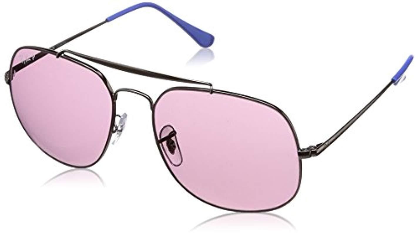 9f82bc9de4 Lyst - Ray-Ban The General Polarized Square Sunglasses