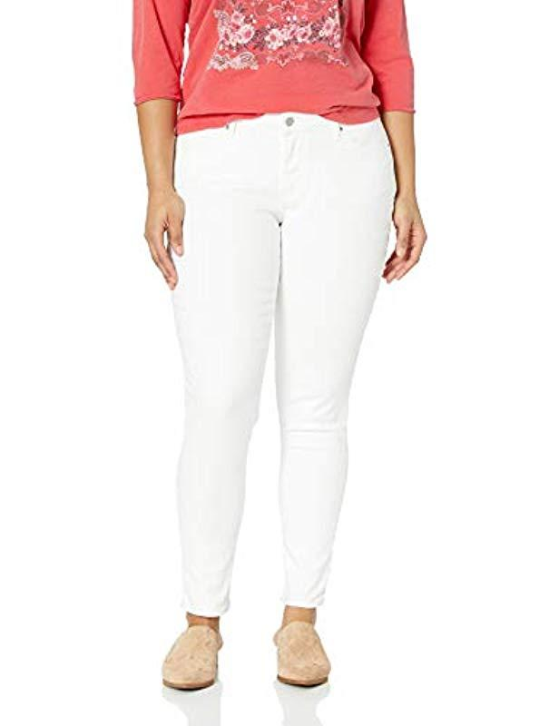 e9bc730fb2 Lyst - Levi s Plus-size 711 Skinny Jeans in White - Save 5%