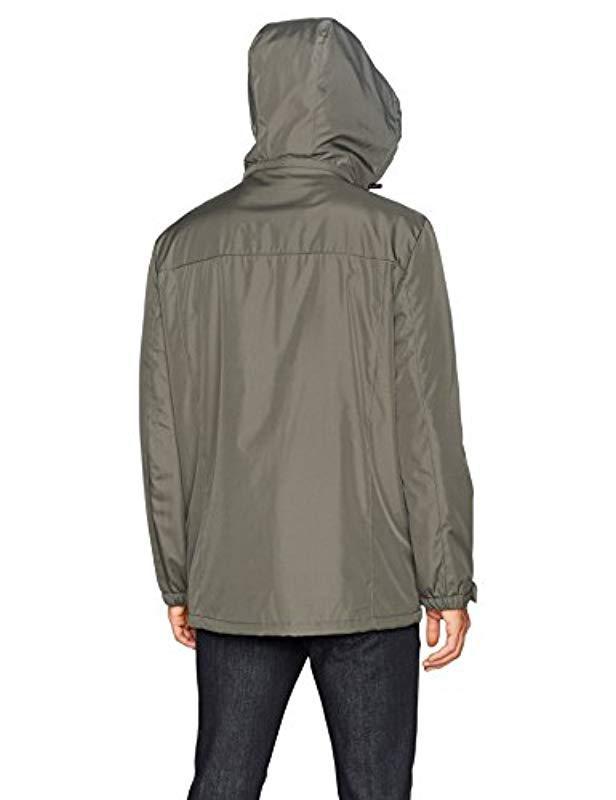 d8e283e1576 Kenneth Cole Reaction - Green Bonded Midweight Jacket With Fleece Zip Bib  for Men - Lyst. View fullscreen