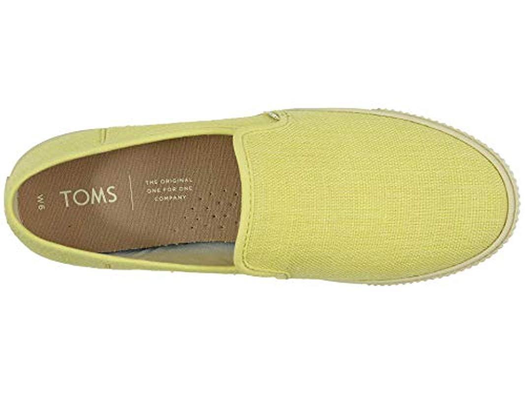 707fdb535bd49 TOMS Seasonal Classics Slip On Shoes in Yellow - Lyst