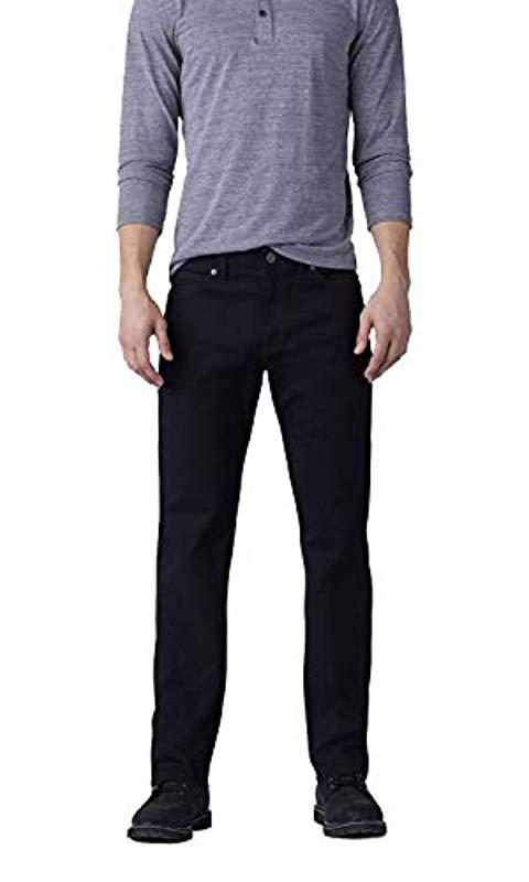 17bc76d8 Lee Jeans. Men's Black Big-tall Modern Series Extreme Motion Relaxed Fit  Jean