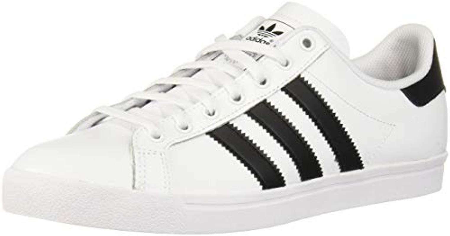 adidas Originals Lace Coast Star Sneaker in White, Black ...