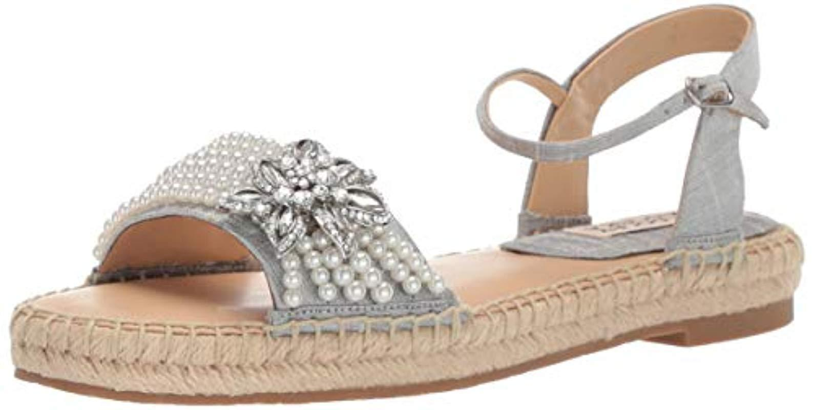 09a9b5a3e81 Lyst - Badgley Mischka Leandra Espadrille Wedge Sandal in Metallic