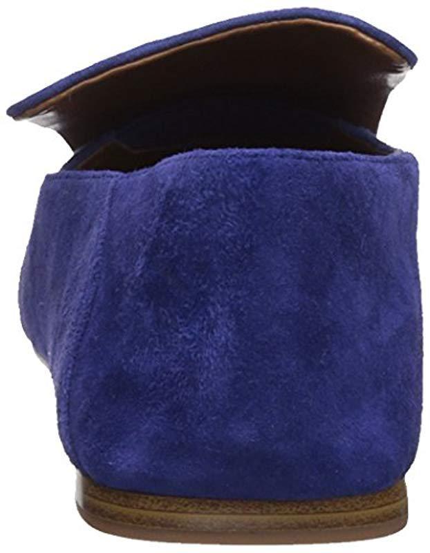 2ebe4e6ea9de Lyst - Nine West Yobie Suede Loafer Flat in Blue