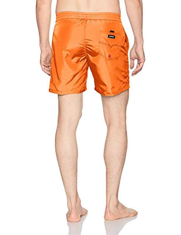 f75c439ae2 Lyst - DIESEL Wave Boxer Swim Trunk in Orange for Men
