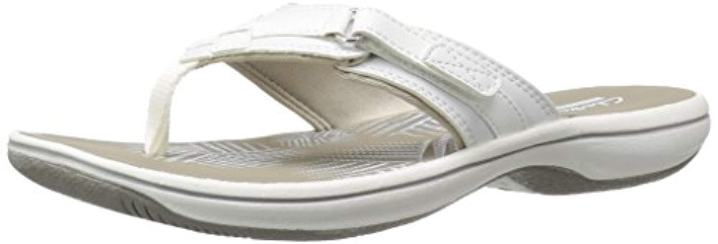 8275609ea Lyst - Clarks Breeze Sea Flip-flop in White - Save 35%