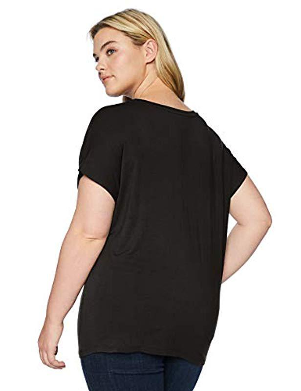 ba408fb53ec06 Lyst - Daily Ritual Plus Size Jersey Short-sleeve Boat Neck Shirt in Black