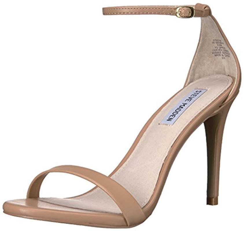 fd56bcfc4c0 Lyst - Steve Madden Stecyw Dress Sandal in Natural - Save 20%