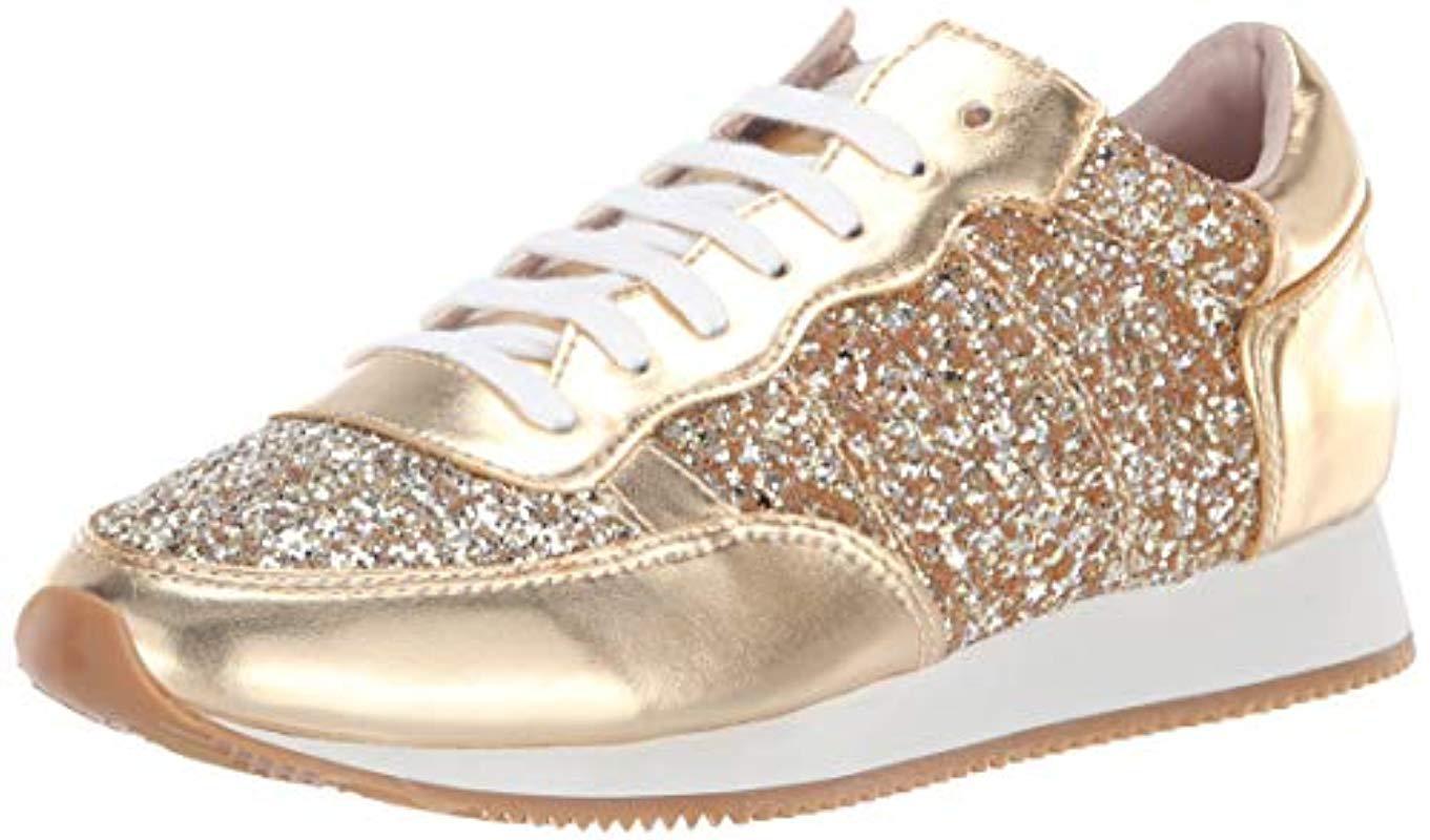 24850715458b Lyst - Kate Spade Felicia Sneaker in Metallic - Save 20%