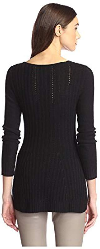 8bbd4f2a726 James   Erin - Black Flared Cashmere Sweater - Lyst. View fullscreen