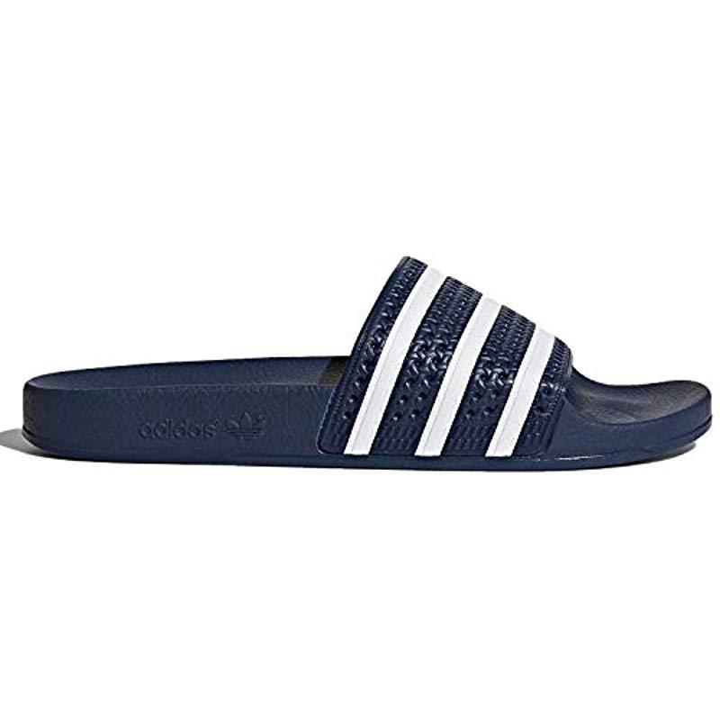 c051c2b30d09e2 Lyst - Adidas Originals Adidas Adilette Slide Sandal in Blue for Men