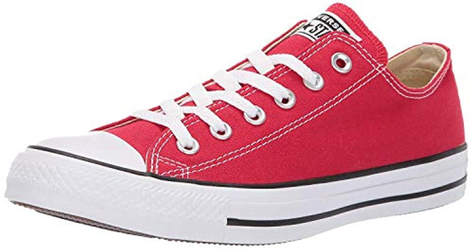 13ad99dc459 Lyst - Converse Unisex Chuck Taylor All Star Low Top Red Sneakers ...