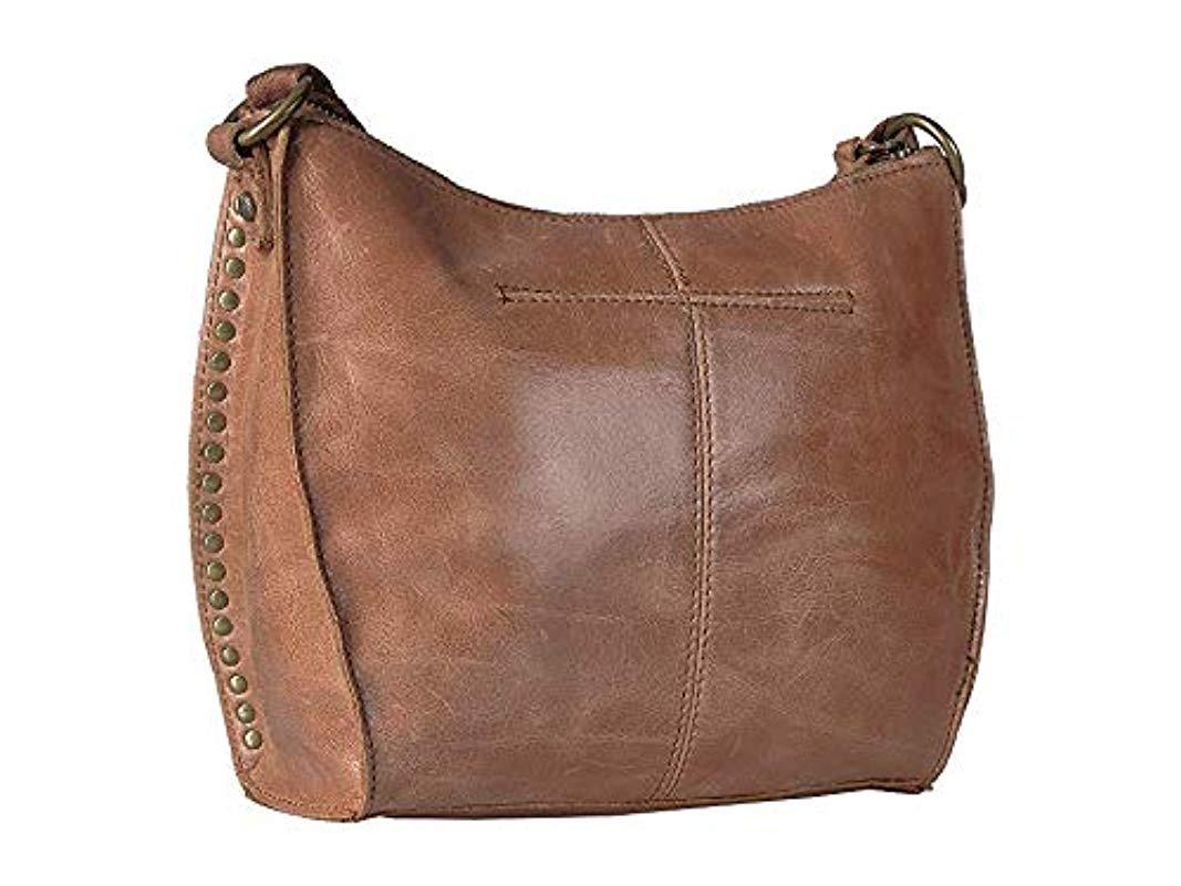 The Sak Womens Saratoga Convertible Backpack Crossbody Shoulder Bag Tobacco