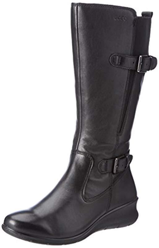 ffe67186279 Lyst - Ecco Babett Wedge Gore-tex Winter Boot in Black