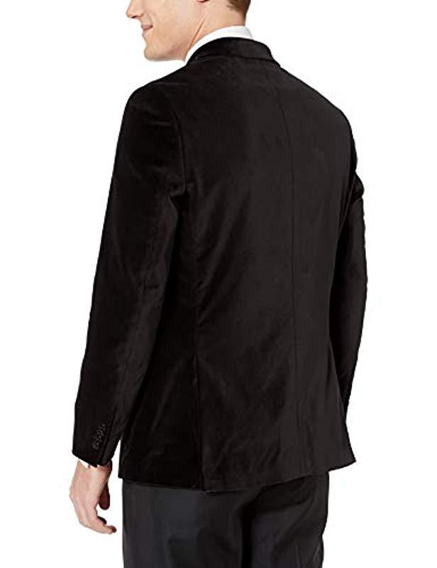 Tommy Hilfiger Mens Modern Fit Velvet Blazer