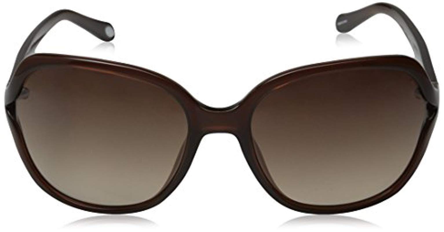 c56be269b1 Lyst - Fossil Fos3004s Square Sunglasses in Brown - Save 39%