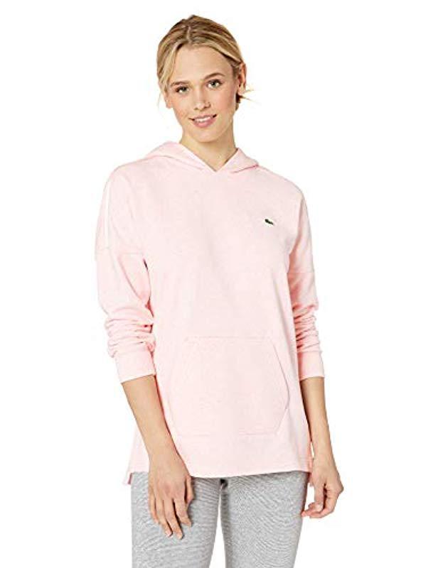 Ls Lacoste Lyst Hooded Sweatshirt Fleece Wkangaroo Oversized 80nwmN