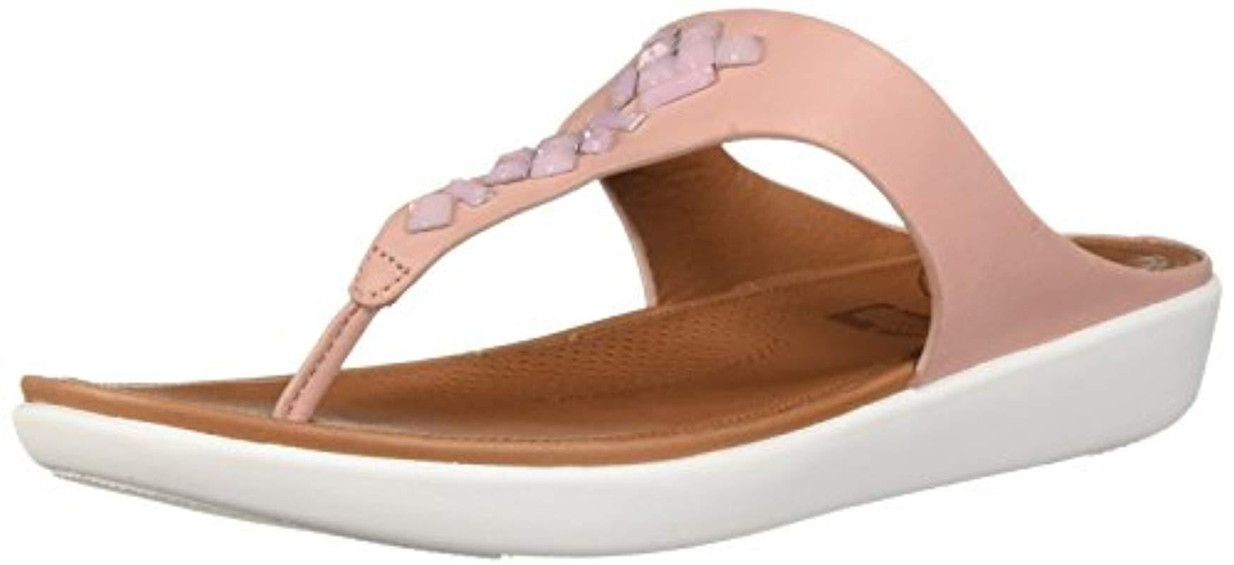 317272d40f47 Fitflop. Women s Brown Banda Leather Toe-thong Sandals-crystal Slide