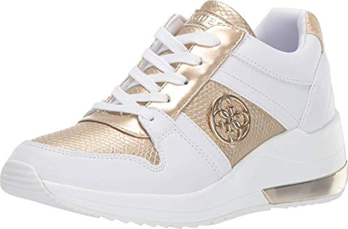 Guess Joyd Sneaker in White/Gold