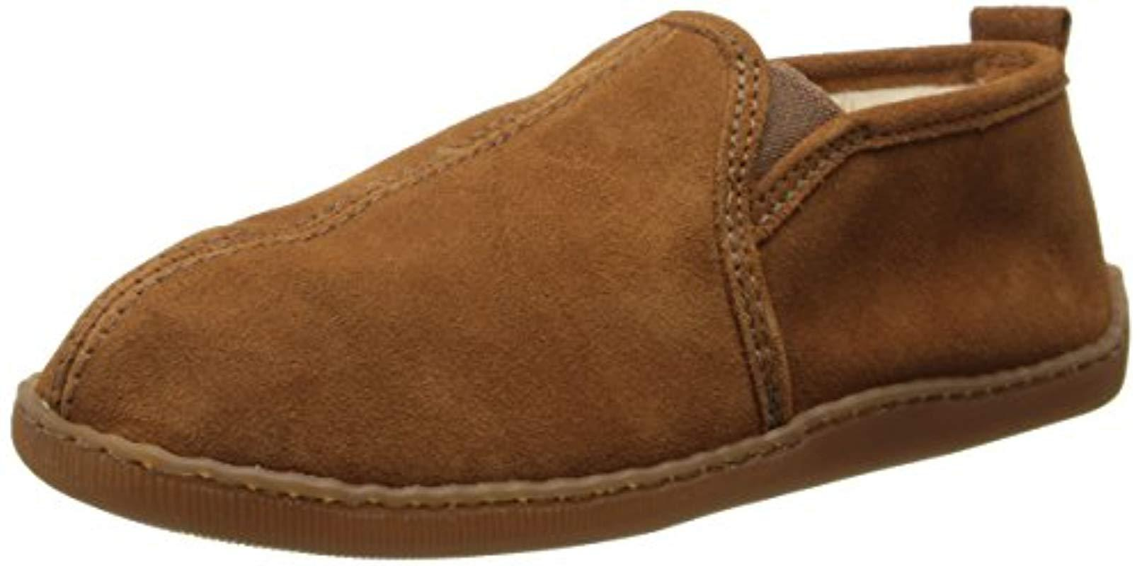 a7d5874cf25c7 Lyst - Minnetonka Pile-lined Romeo Slipper in Brown for Men