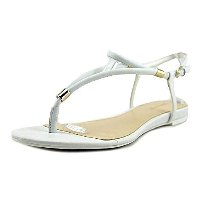 f8475a4f1 Lyst - Nine West Rivers Women Us 10 White Thong Sandal in White ...