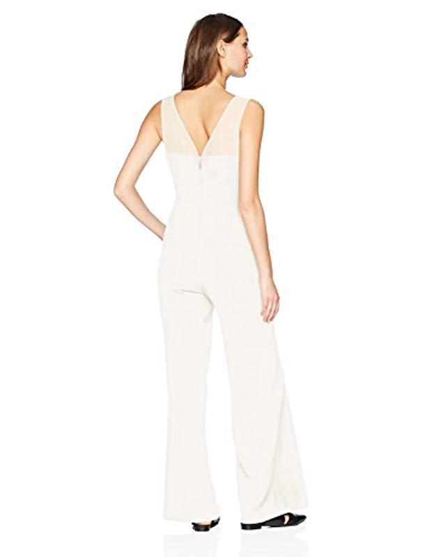 8a892ac7f9bd Lyst - BCBGMAXAZRIA Vicktoria Sleeveless Jumpsuit in White