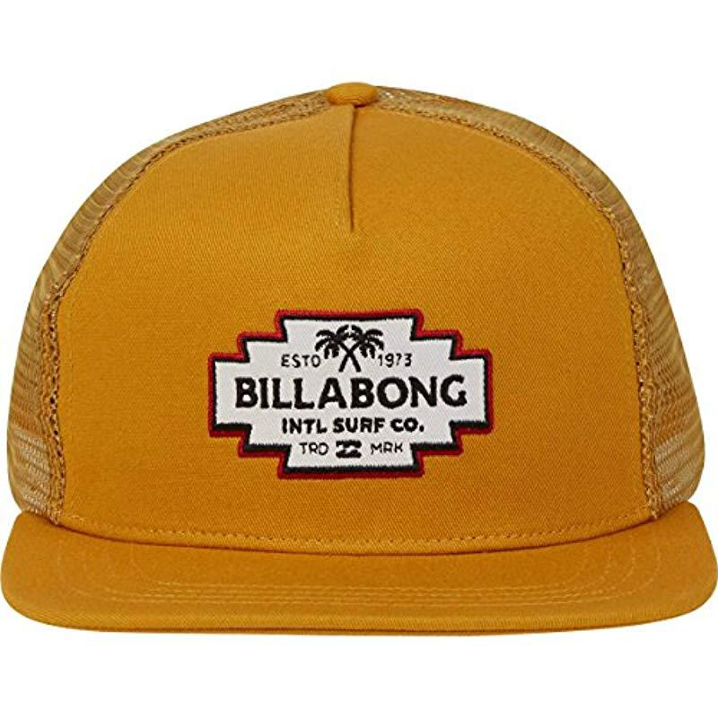 ddff0fb629f50 ... promo code billabong metallic flatwall trucker hat for men lyst. view  fullscreen 62c24 88ba2