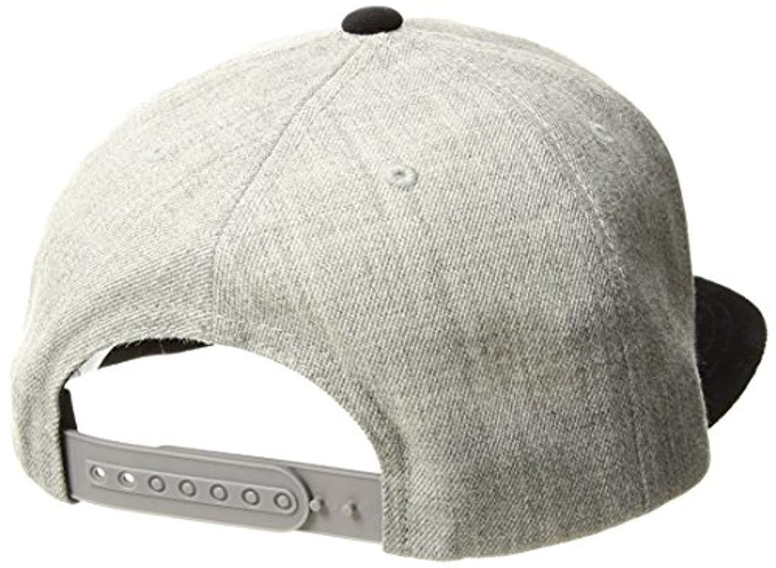 70db4465ddbd7 Brixton - Gray Jolt Medium Profile Adjustable Snapback Hat for Men - Lyst.  View fullscreen