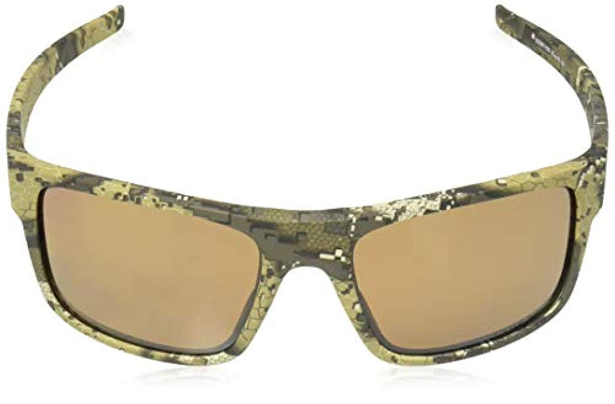 48e09e3dc9 Lyst - Oakley Drop Point Polarized Iridium Rectangular Sunglasses ...