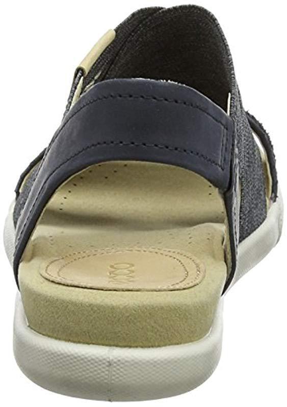 fc08dde2887f Ecco - Black Damara 2-strap Flat Sandal - Lyst. View fullscreen