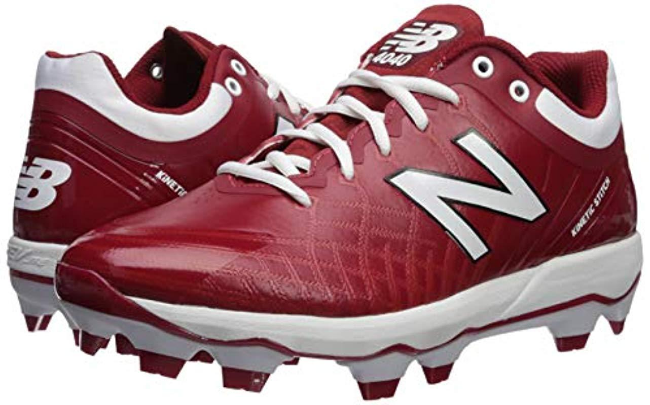good out x run shoes fast delivery New Balance Synthetic 4040v5 Molded Baseball Shoe, Maroon/white ...