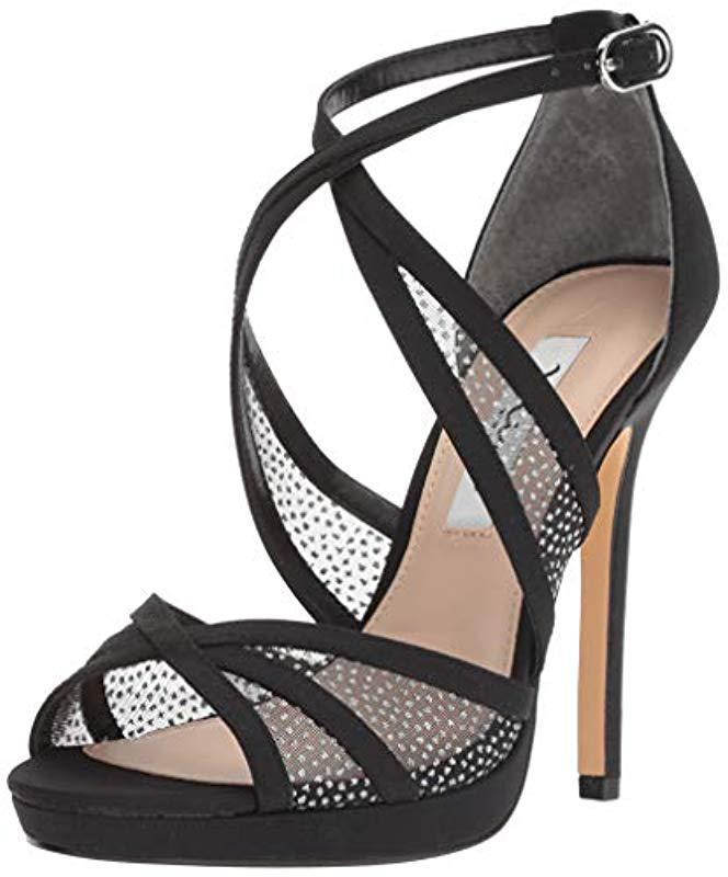 8eb37ffb26a Lyst - Nina Fenna Heeled Sandal in Black