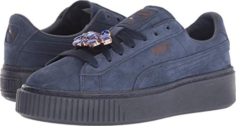 PUMA Suede Platform Gem Sneaker in Blue