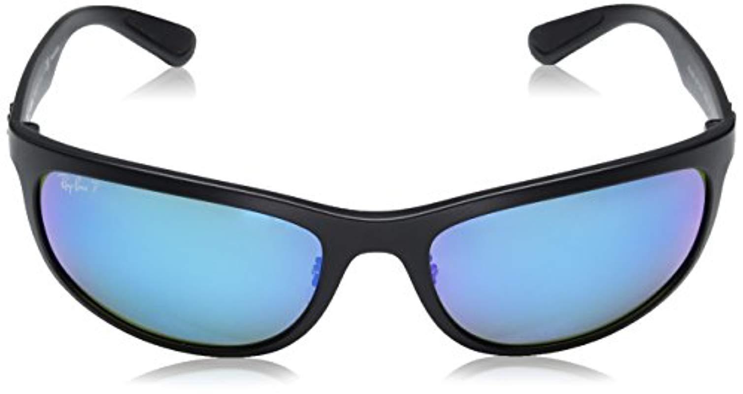 93fa95b8efc Ray-Ban - Black Rb4265 Chromance Lens Wrap Sunglasses for Men - Lyst. View  fullscreen